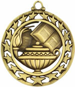 Book & Lamp Medal